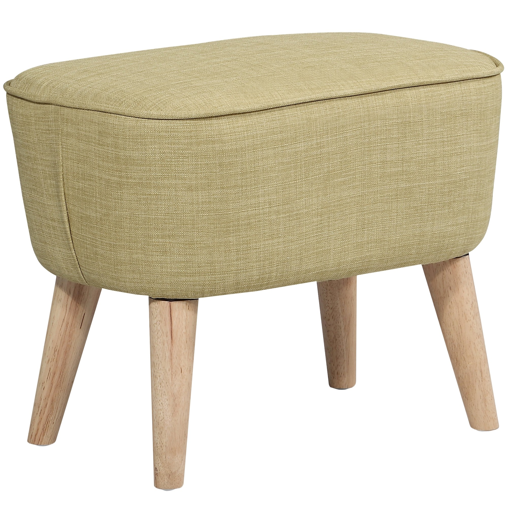 Molena Commercial Grade Fabric Foot Stool, Olive