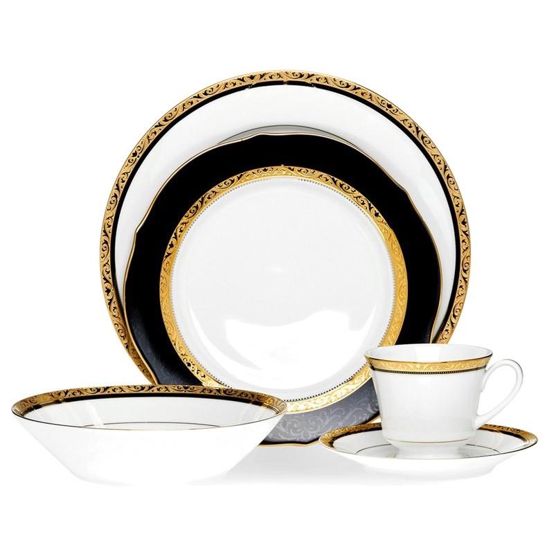 Noritake Regent Gold Fine China 20 Piece Dinner Set