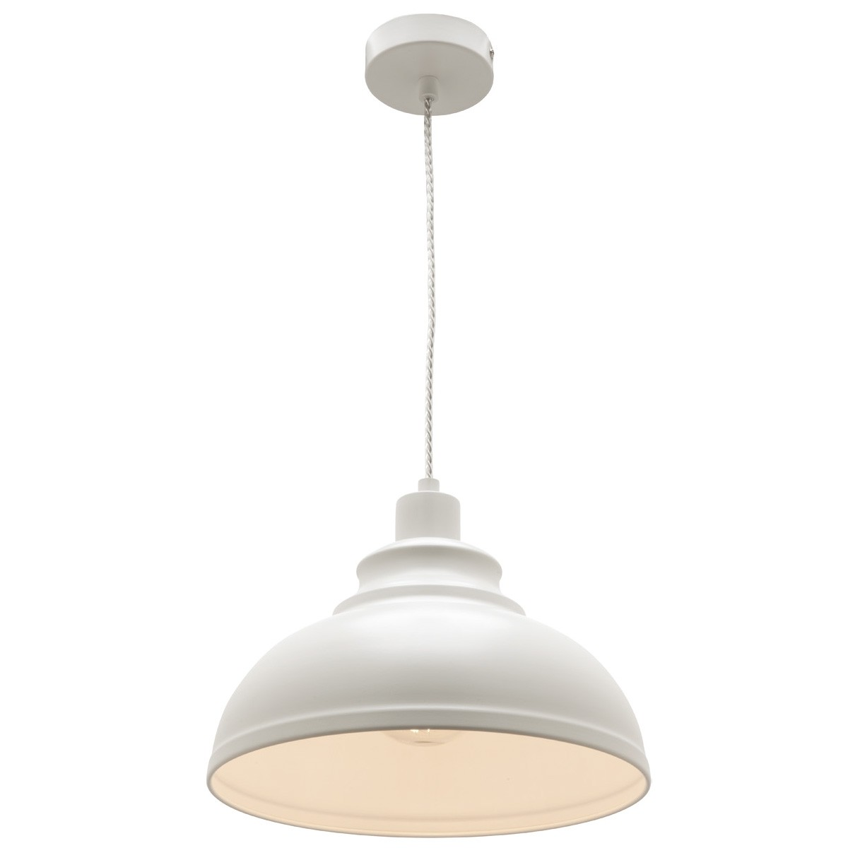 Risto Metal Pendant Light, White