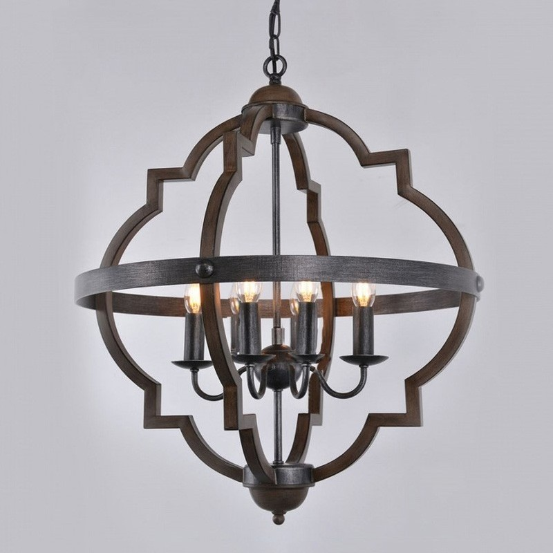 Hyatt Metal Chandelier, Large