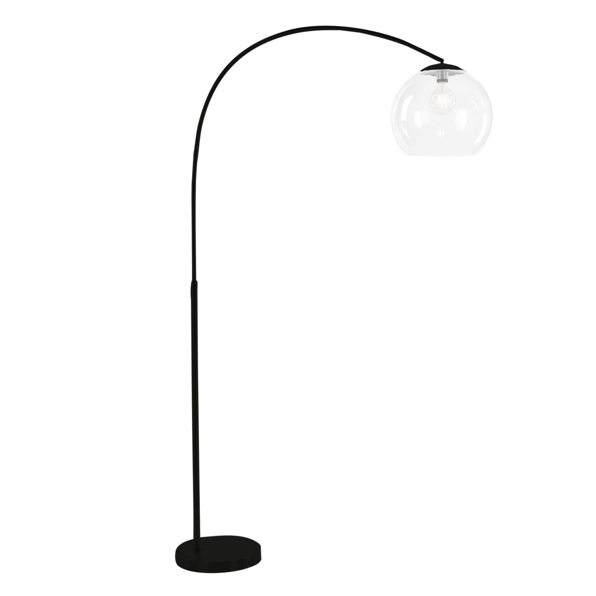 Over Metal Arc Floor Lamp, Matt Black