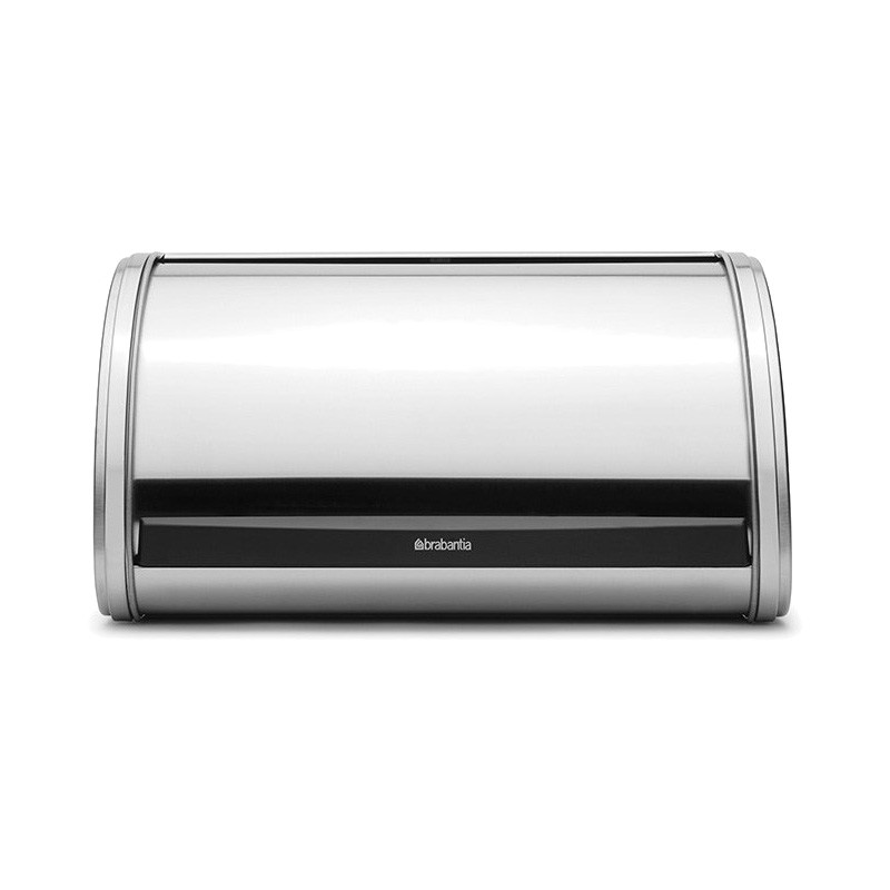 Brabantia Medium Roll Top Bread Bin - Matt Steel