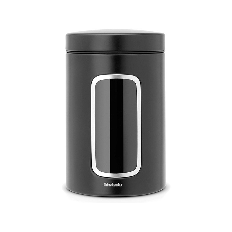 Brabantia 1.4L Window Storage Canister - Matt Black