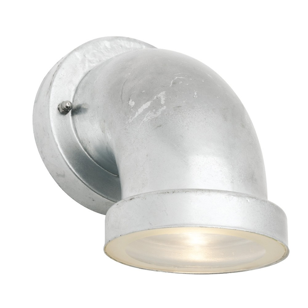Snorkel IP44 Outdoor LED Metal Wall Light - Sliver