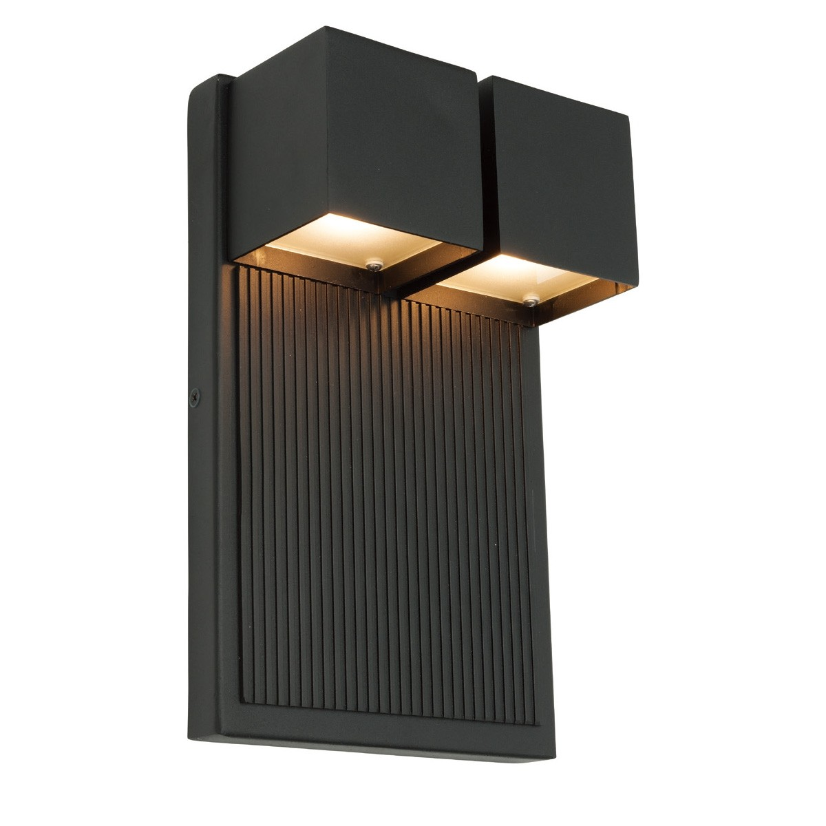 Tucson IP44 Exterior LED Wall Light, Black
