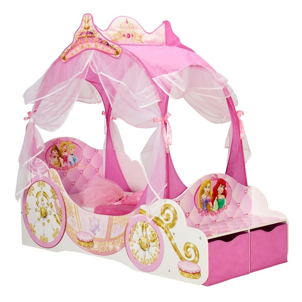 Worlds Apart Disney Princess Carriage Toddler Bed