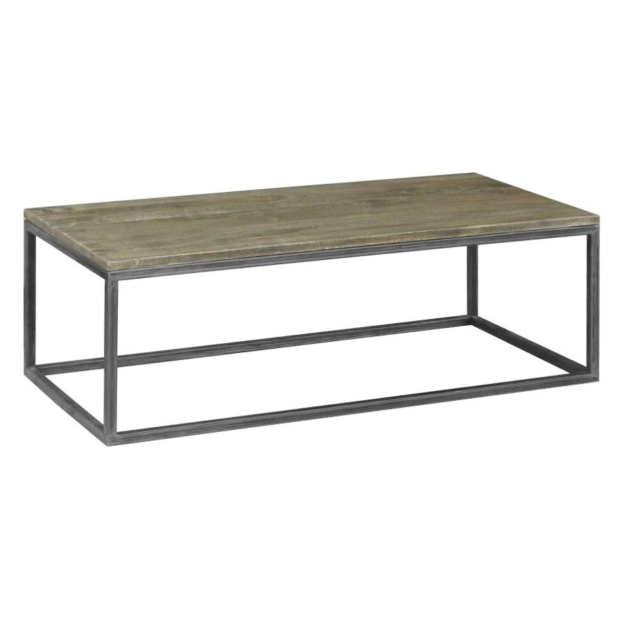 Byrne Solid Mango Wood Timber & Metal 120cm Coffee Table