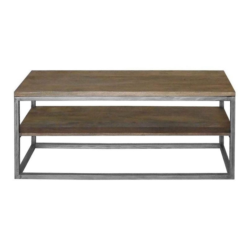Byrne Mango Wood & Metal TV Unit, 120cm