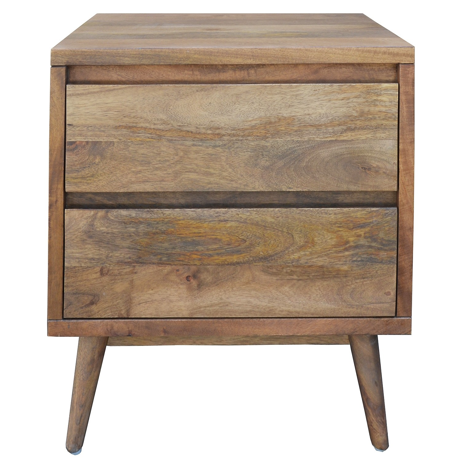 Elvina Mango Wood Bedside Table