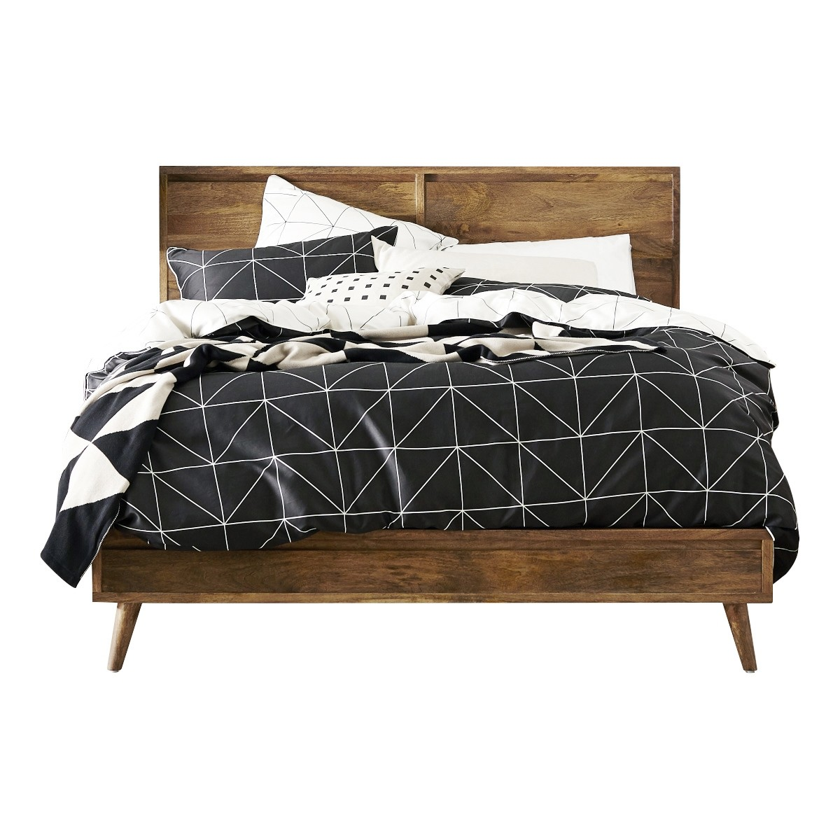 Elvina Mango Wood Bed, Queen