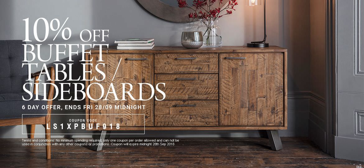 10% Off Buffet Tables
