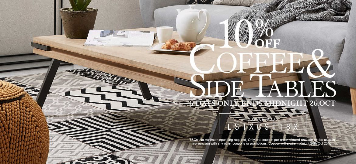 10% Off Coffee & Side Tables