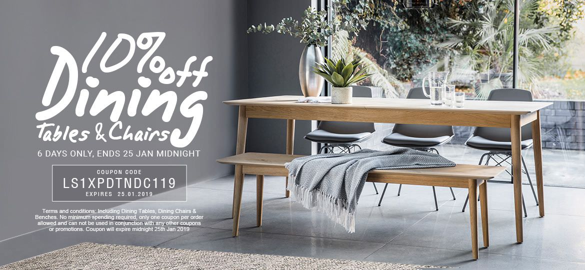 10% Off Dining Tables & Chairs