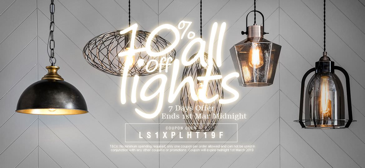 10% Off Lighting