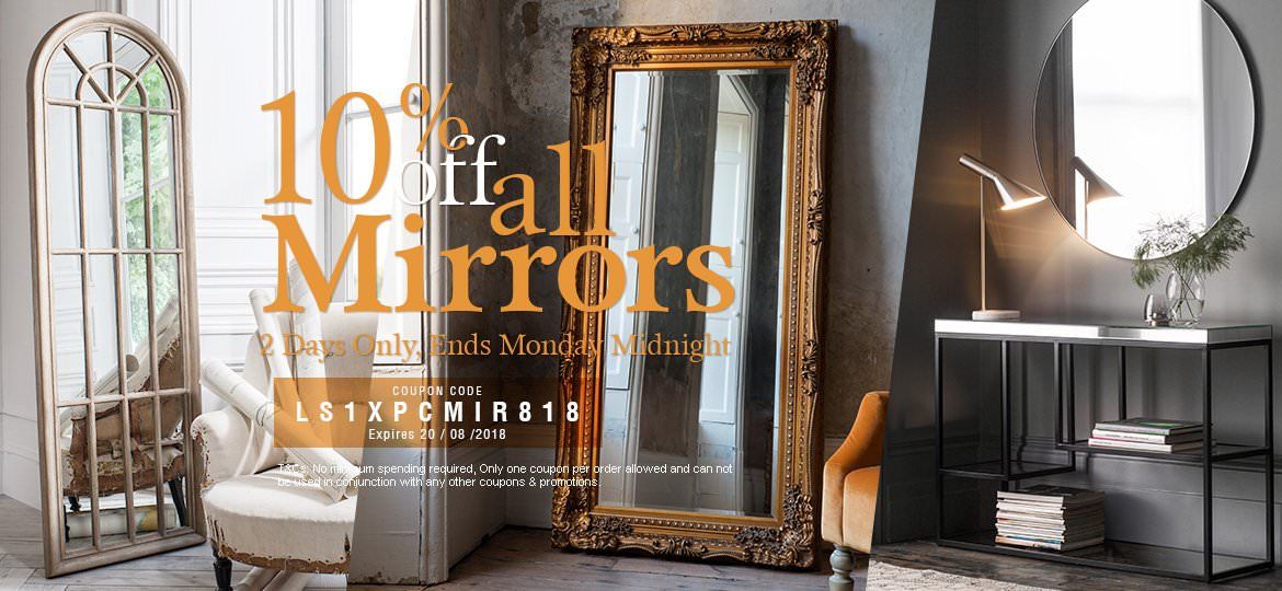 10% Off Mirrors