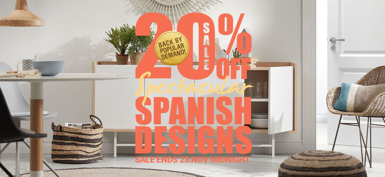 20% Off Spanish Designs