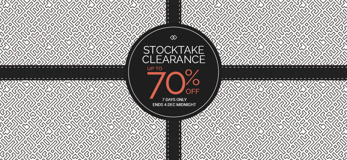Stocktake Clearance Sale
