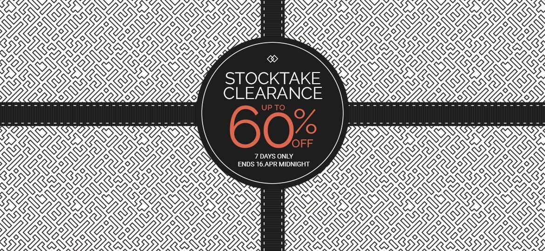 Stocktake Clearance Sale