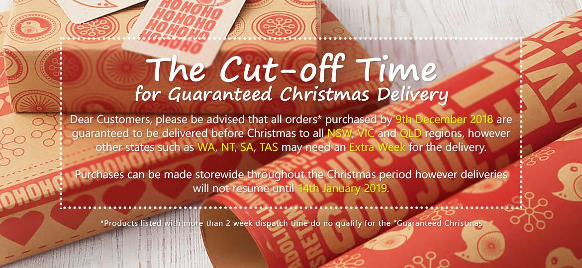 Xmas Cutting Off Date